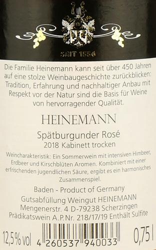 Weingut Heinemann Spätburgunder Rosé