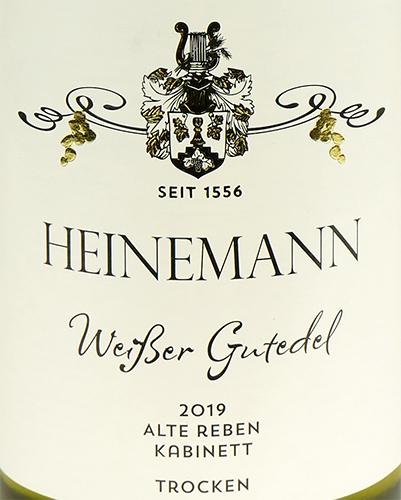 Weingut Heinemann Weißer Gutedel Alte Reben