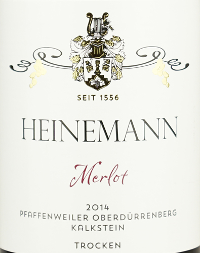 Weingut Heinemann Merlot Pfaffenweiler Oberdürrenberg