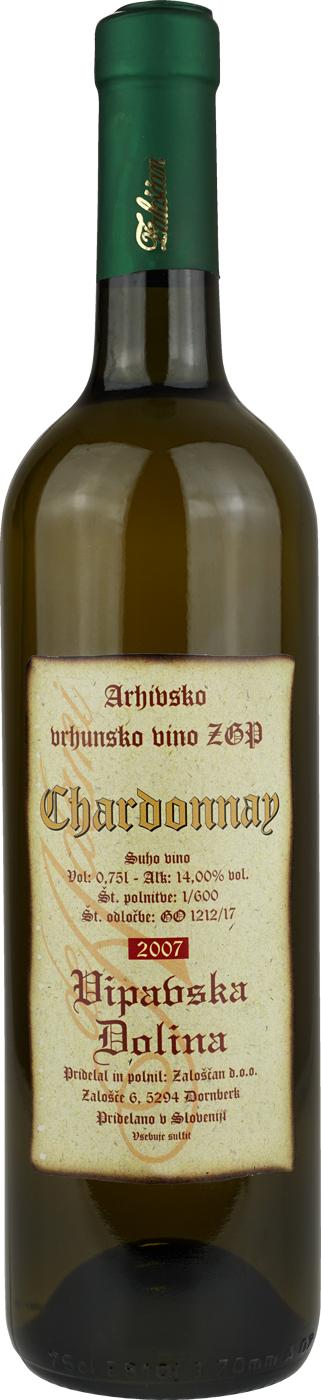 de Adami Zaloscan Chardonnay Barrique Vipavska Dolina